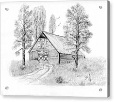 The Old Country Barn Acrylic Print by Syl Lobato