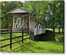 The Old Covered Bridge Acrylic Print