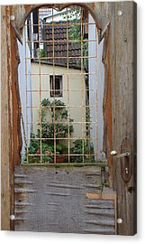 Memories Made Beyond This Old Door Acrylic Print
