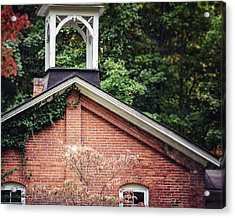 The Old Erie Schoolhouse Acrylic Print by Lisa Russo
