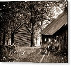 Acrylic Print featuring the photograph The Old Farm At Sunrise by Amber Kresge