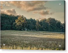 The Old Farm At Sunrise - Country Scene Acrylic Print by Jai Johnson