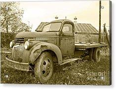 The Old Farm Truck Acrylic Print by John Debar