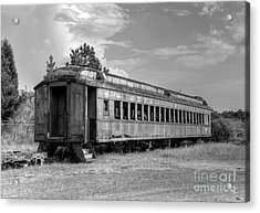 Acrylic Print featuring the photograph The Old Forgotten Train by Kathy Baccari