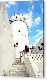 The Old Fort Acrylic Print by Peter Waters
