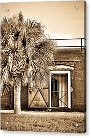 The Old Fort-sepia Acrylic Print
