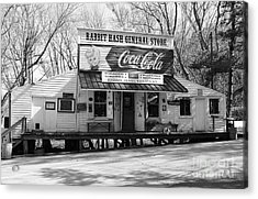 The Old General Store Bw Acrylic Print by Mel Steinhauer
