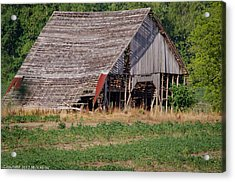 Acrylic Print featuring the photograph The Old Gray Barn by Nick Kirby