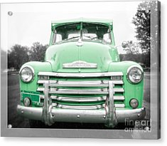 The Old Green Chevy Pickup Truck Acrylic Print