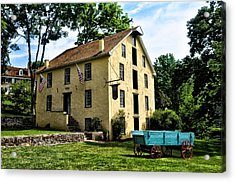 The Old Grist Mill  Paoli Pa. Acrylic Print by Bill Cannon