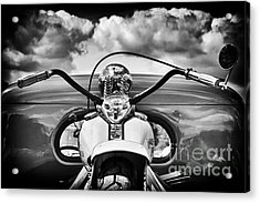 The Old Harley Monochrome Acrylic Print by Tim Gainey