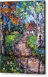 Acrylic Print featuring the painting The Old Homestead by Megan Walsh