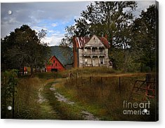 The Old Homestead Acrylic Print by T Lowry Wilson