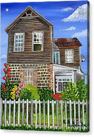 Acrylic Print featuring the painting The Old House by Laura Forde
