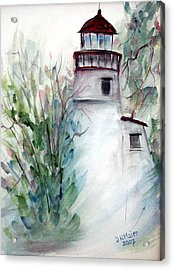 Acrylic Print featuring the painting The Old Lighthouse by Dorothy Maier