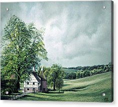 Acrylic Print featuring the painting The Old Lime Tree by Rosemary Colyer