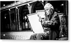 Acrylic Print featuring the photograph The Old Man Painter II by Stwayne Keubrick