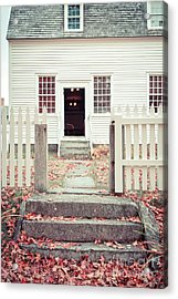 The Old Meeting House Canterbury Shaker Village Acrylic Print by Edward Fielding