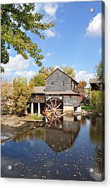 The Old Mill - Lazy Summer Day Acrylic Print by John Saunders