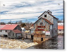 The Old Mill And The Raging River Acrylic Print