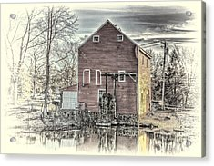 The Old Mill Acrylic Print by Arnie Goldstein