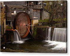 The Old Mill Detail Acrylic Print by Douglas Stucky