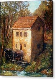 The Old Mill Acrylic Print by Gail Kirtz