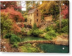 The Old Mill In Autumn - Arkansas - North Little Rock Acrylic Print by Jason Politte