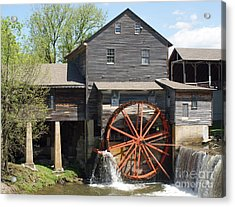 The Old Mill In Pigeon Forge Acrylic Print by Roger Potts