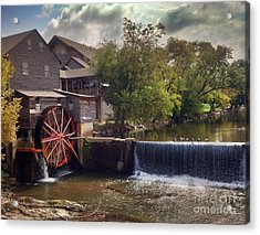The Old Mill Acrylic Print by Janice Spivey