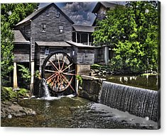 The Old Mill Restaurant Acrylic Print by Deborah Klubertanz