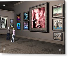 Acrylic Print featuring the digital art The Old Museum by John Alexander