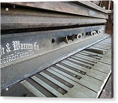 Acrylic Print featuring the photograph The Old Piano by Keith Hawley