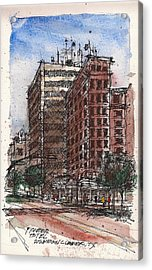 The Old Pioneer Hotel Acrylic Print by Tim Oliver