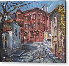 The Old Plovdiv - Autumn Sun Acrylic Print by Stefano Popovski
