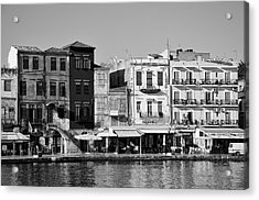 The Old Port Of Chania City Acrylic Print