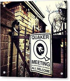The Old Quaker Meeting House: Built In Acrylic Print