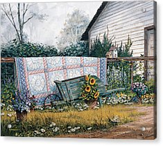 Acrylic Print featuring the painting The Old Quilt by Michael Humphries