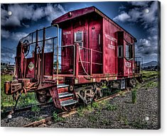 Acrylic Print featuring the photograph Old Red Caboose by Thom Zehrfeld