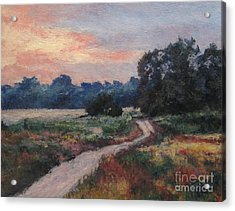The Old Road At Sunset Acrylic Print by Gregory Arnett