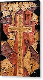 The Old Rugged Cross Acrylic Print by Lisa Brandel
