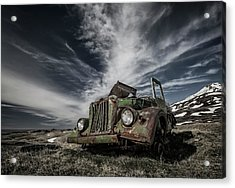 The Old Russian Jeep Acrylic Print