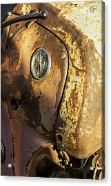 The Old Rustic Tractor-one Acrylic Print by David Allen Pierson
