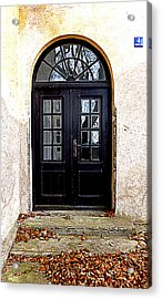 The Old School Entrance Acrylic Print by The Creative Minds Art and Photography