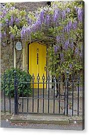 The Old School House Door Acrylic Print by Gill Billington