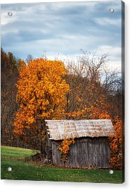 The Old Shed In Fall Acrylic Print