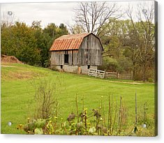 Acrylic Print featuring the photograph The Old Shed by Jean Goodwin Brooks