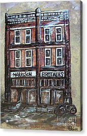 Acrylic Print featuring the painting The Old Store by Eloise Schneider