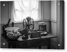 The Old Table By The Window - Wonderful Memories Of The Past - 19th Century Table And Window Acrylic Print