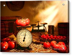 The Old Tomato Farm Stand Acrylic Print by Olivier Le Queinec